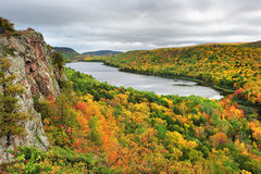 Lake of the clouds, Pocupine Mountains state Park Royalty Free Stock Photo
