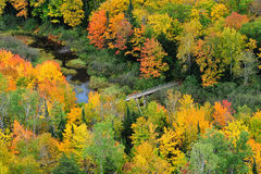 Lake of the clouds, Porcupine Mountains Michigan Stock Photos