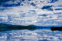Lake Clouds Sky and Water Royalty Free Stock Photography