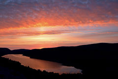 Lake of the Clouds Sunrise Royalty Free Stock Images