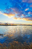 The lake and cloudscape sunset Royalty Free Stock Images