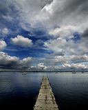 Lake and Cloudy Sky Royalty Free Stock Images