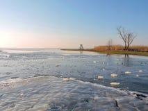 Lake coast in winter Stock Photo