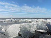 Lake coast in winter Royalty Free Stock Photos