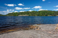 Day lake landscape Royalty Free Stock Images