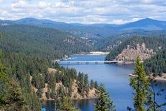 Lake Coeur d`Alene, Idaho. Visrta of Lake Coeur d`Alene, Idaho Stock Images