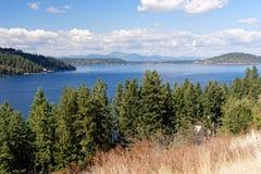 Lake Coeur d`Alene, Idaho. Visrta of Lake Coeur d`Alene, Idaho Stock Photo