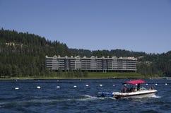 Lake Coeur dAlene Idaho near Spokane Washington. Lake Coeur d`Alene is a natural lake in northern Idaho, in the northwest United States Stock Images