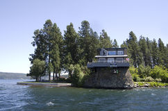 Lake Coeur dAlene Idaho near Spokane Washington. Lake Coeur d`Alene is a natural lake in northern Idaho, in the northwest United States. It attracts tourists to stock photos