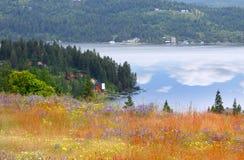 Lake Coeur d'Alene. Scenic Lake Coeur d'Alene landscape in Idaho royalty free stock images