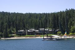 Lake Coeur dAlene Idaho near Spokane Washington. Lake Coeur d`Alene is a natural lake in northern Idaho, in the northwest United States. It attracts tourists to Royalty Free Stock Images