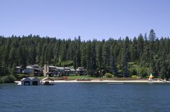 Lake Coeur dAlene Idaho near Spokane Washington. Lake Coeur d`Alene is a natural lake in northern Idaho, in the northwest United States. It attracts tourists to Stock Images