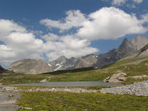 Lake on the Col de la Vanoise Royalty Free Stock Images