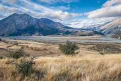 Lake Coleridge High Country Stock Photo
