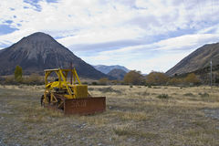 Lake Coleridge High Country tractor Stock Images