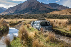 Lake Coleridge High Country 4WD Stock Photos