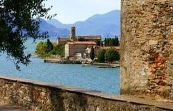 Lake Como. The town of Domaso on Lake Como, Italy Stock Photography