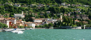 Lake Como. The town of Domaso on the northwestern shore of Lake Como, Italy stock photography