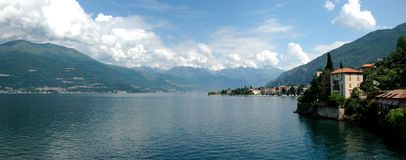 Lake Como. Panorama of Lake Como in Italy royalty free stock images
