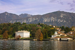 Lake Como. The mansion named Villa Melzi in the famous town of Bellagio on the Como Lake, Italy stock photography