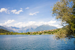 Lake Como and Alps, Italy Royalty Free Stock Photo