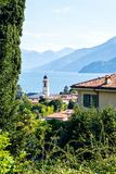 Lake Como from Belaggio city royalty free stock image
