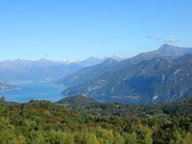 Lake Como Bellagio and mountains Stock Images