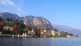 Lake Como from a boat. View of Lake Como (northern Italy) in a sunny day Stock Photography