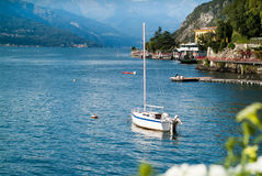 Lake Como Boat Royalty Free Stock Images