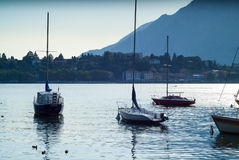 Lake Como boats Stock Photography