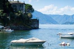 Lake Como Boats Stock Photos