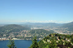 Lake Como from Brunate Stock Photography