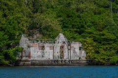 Lake Como 38. Derelict building along the banks of Lake Como Stock Photography