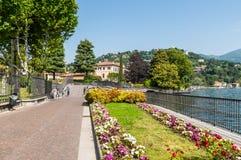 Lake Como embankment view Stock Photography