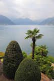 Lake Como in the fog. Stock Photo