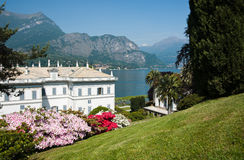 Lake Como, gardens. Royalty Free Stock Images