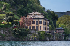 Lake Como 4. Lake Como has beautiful housing and estates surrounded by lush forrest and mountains Stock Image
