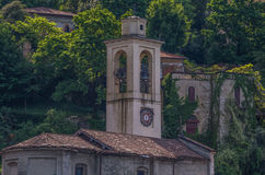 Lake Como 15. Lake Como has beautiful housing and estates surrounded by lush forrest and mountains Stock Image