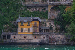 Lake Como 12. Lake Como has beautiful housing and estates surrounded by lush forrest and mountains Stock Photography