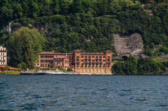 Lake Como 36. Lake Como has beautiful housing and estates surrounded by lush forrest and mountains Stock Images