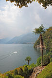 Lake Como in the haze Royalty Free Stock Images