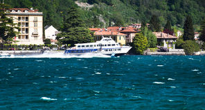 Lake Como hydrofoil boat Stock Photo