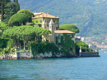 Lake Como, Italy. A home in the middle of Lake Como in Italy Royalty Free Stock Photo