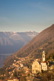 Lake Como, Italy. The lovely village of Pognana Lario in the hills of lake Como in northern Italy royalty free stock images