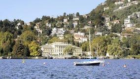 Lake Como. Italy, lake como beautiful landscape with air stock footage