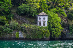 Lake Como 18. Lake Como in Italy beautiful scenery surrounded by snow capped mountains and lush Forrest Royalty Free Stock Photo
