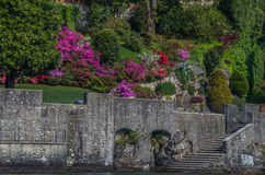 Lake Como 30. Lake Como in Italy beautiful scenery surrounded by snow capped mountains and lush Forrest Royalty Free Stock Photos