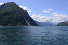 Lake Como Italy. Landscape of Lake Como, as seen from Lecco, Italy Royalty Free Stock Image