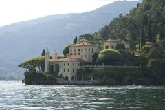 Lake Como, Italy. Picturesque landscape of Villas on the banks of Lake Como, Northern Italy Royalty Free Stock Images