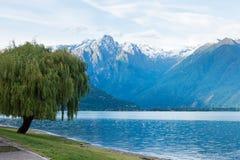 Lake Como (Italy) summer cloudy view Stock Image